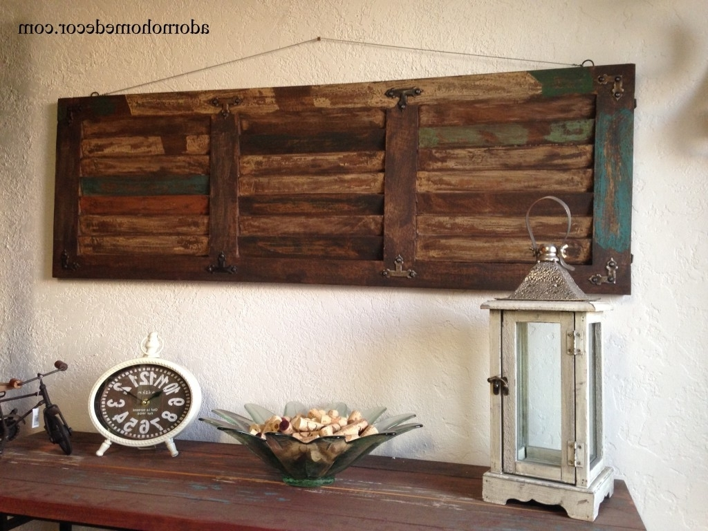 Large Rustic Wall Art With Regard To Widely Used Large Metal And Wood Wall Art (View 5 of 15)