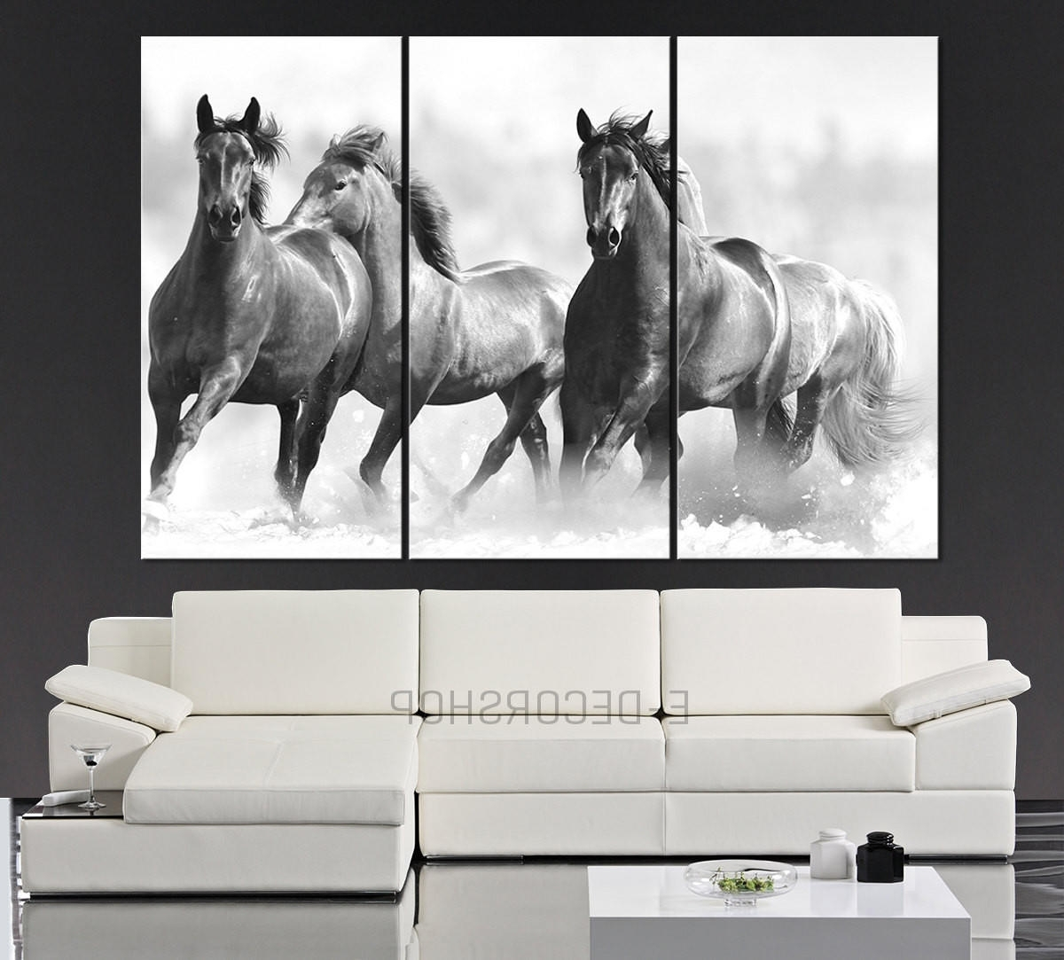 Large Wall Art Running Wild Horses Canvas From Mycanvasprint Within Widely Used Horses Wall Art (View 9 of 15)