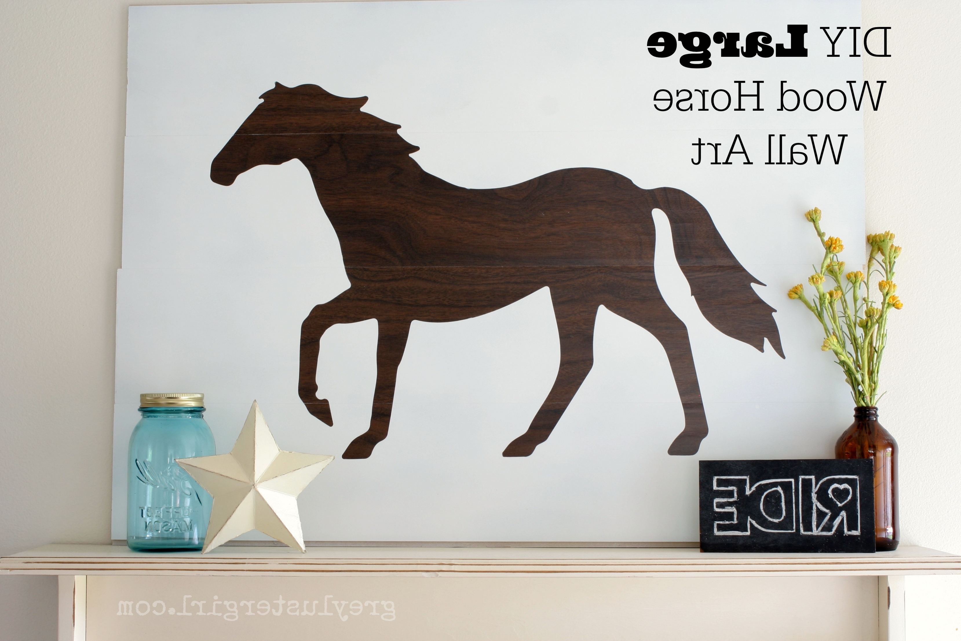 Large Wood Horse Wall Art And Silhouette Portrait Giveaway – Pertaining To Latest Horse Wall Art (View 12 of 15)