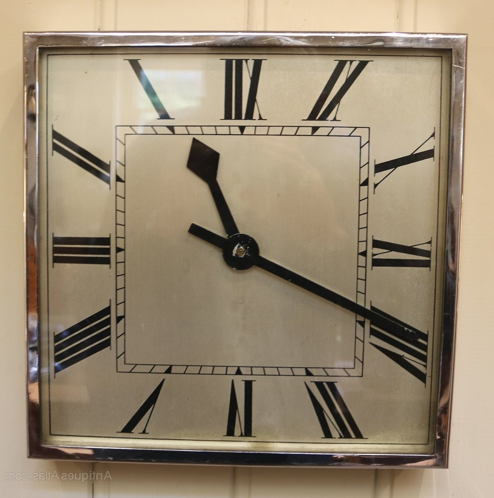 Latest Antiques Atlas – Art Deco Wall Clock (England, C (View 9 of 15)