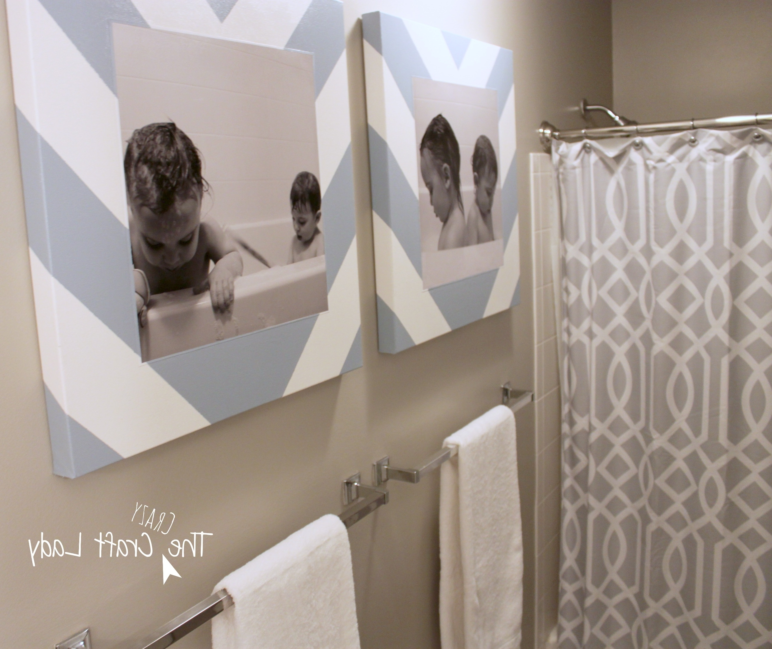Latest Bathroom Canvas Wall Art Intended For Bath Time Photos And Diy Canvas Prints – The Crazy Craft Lady (View 8 of 15)