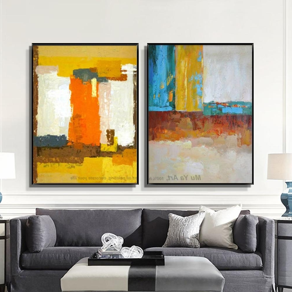 Latest Best Muya Abstract Painting Large Canvas Wall Art Tableau Decoration Regarding Large Canvas Wall Art (View 10 of 15)
