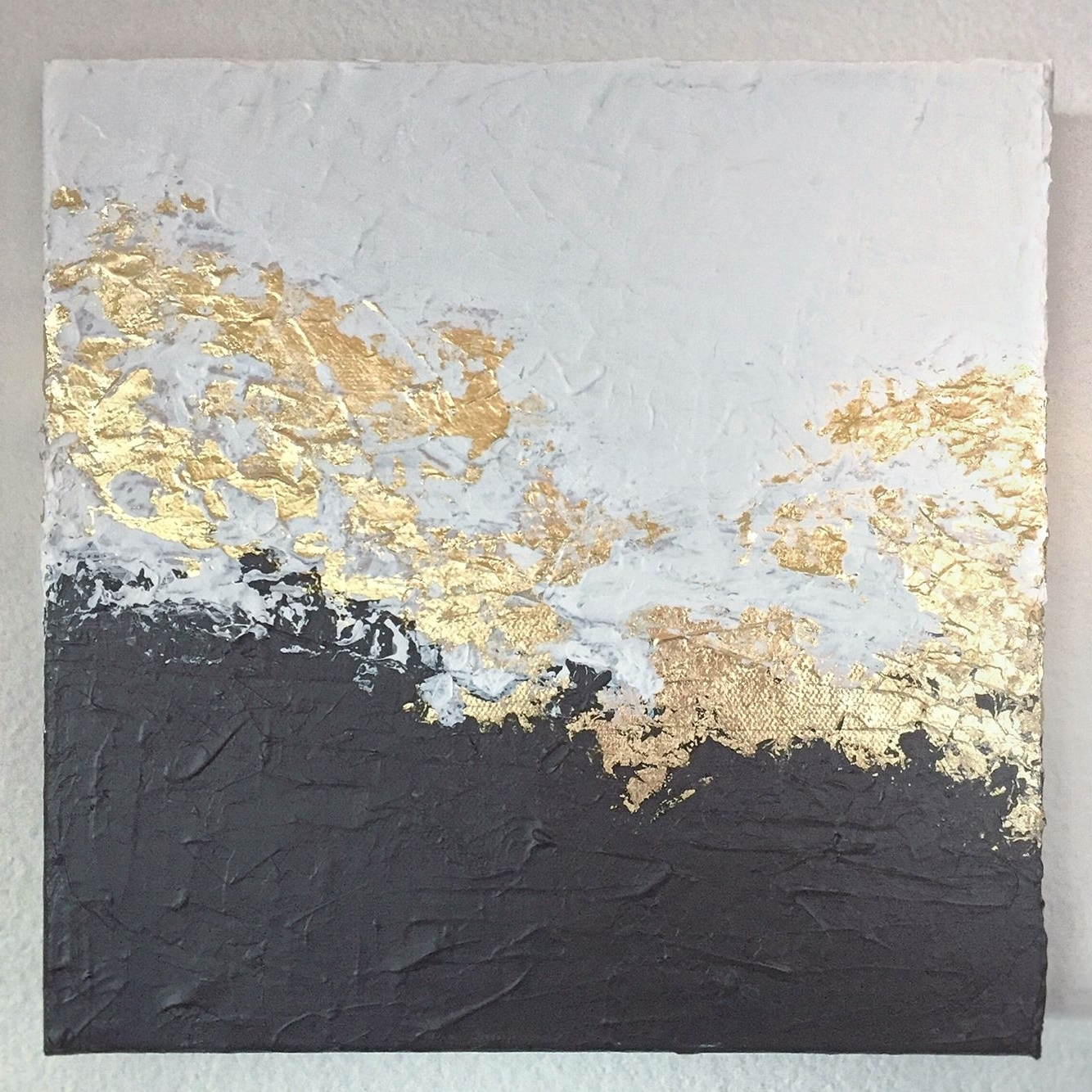 Latest Black And Gold Wall Art For White And Black Gold Foil Leaf (View 10 of 15)