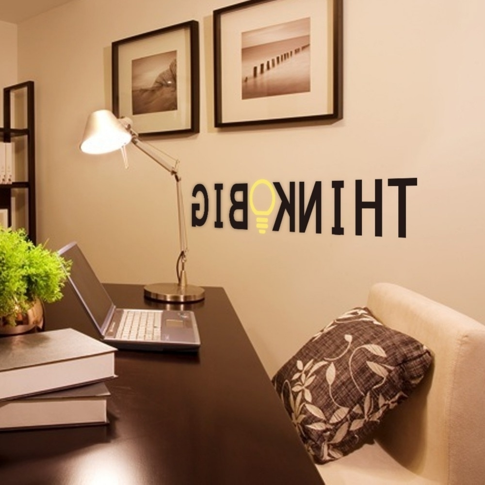 Latest Clstrose Quote Decor Wall Decor Stickers Modern Home House Regarding Decorative Wall Art (View 8 of 15)