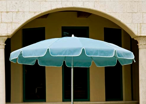 Latest Drape Patio Umbrellas Inside Telescope Casual Drape Umbrellas Arch – Country Stove Patio And Spa (View 3 of 15)
