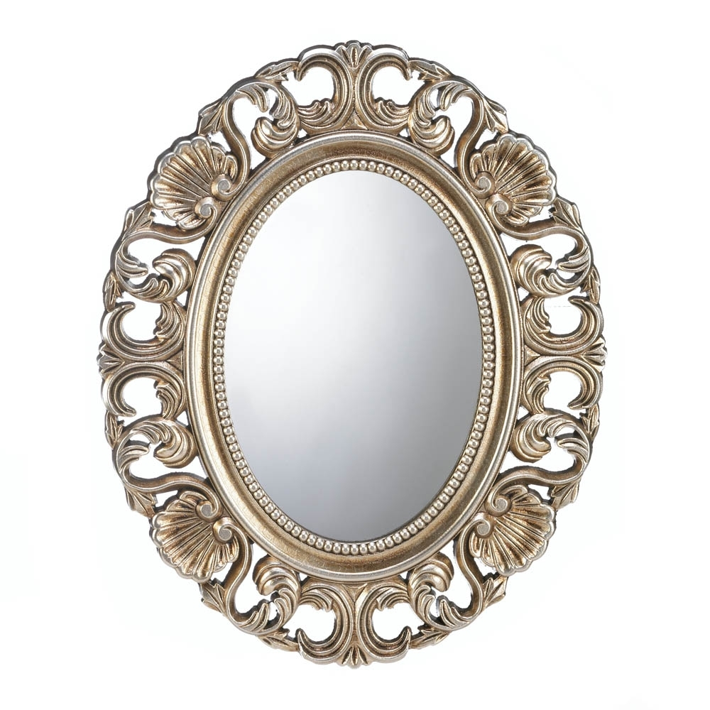 Latest Gold Wall Art In Gold Wall Mirror, Antique Art Round Big Mirrors For Wall Decor (View 11 of 15)