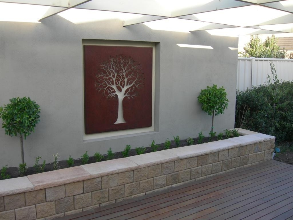 Latest Graceful Outdoor Wall Decor 2 Art Iron Design Of Outside Metal 1 With Regard To Outside Wall Art (View 3 of 15)