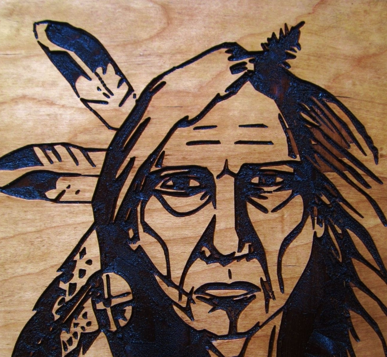 Latest Hand Crafted Native American Indian Elder Woman Handmade Wood With Native American Wall Art (View 7 of 15)