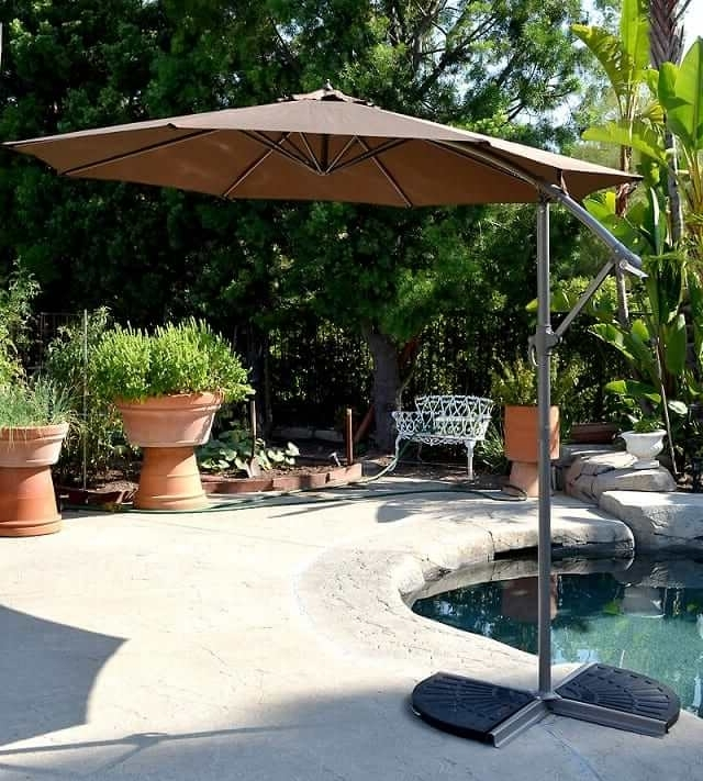 Latest Hanging Patio Umbrellas For Offset Patio Umbrella – Coffee 10' Adjustablequality Patio Umbrellas (View 8 of 15)