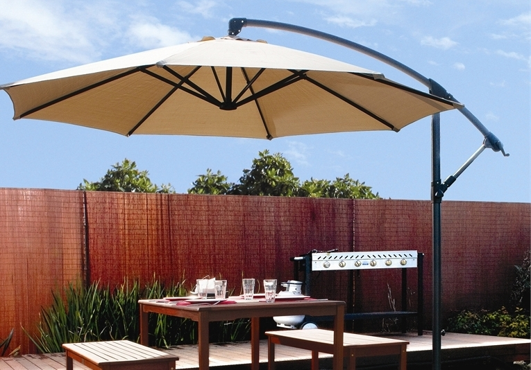 Latest Hanging Patio Umbrellas Throughout Fancy And Beautiful Patio Umbrellas – Bellissimainteriors (View 4 of 15)