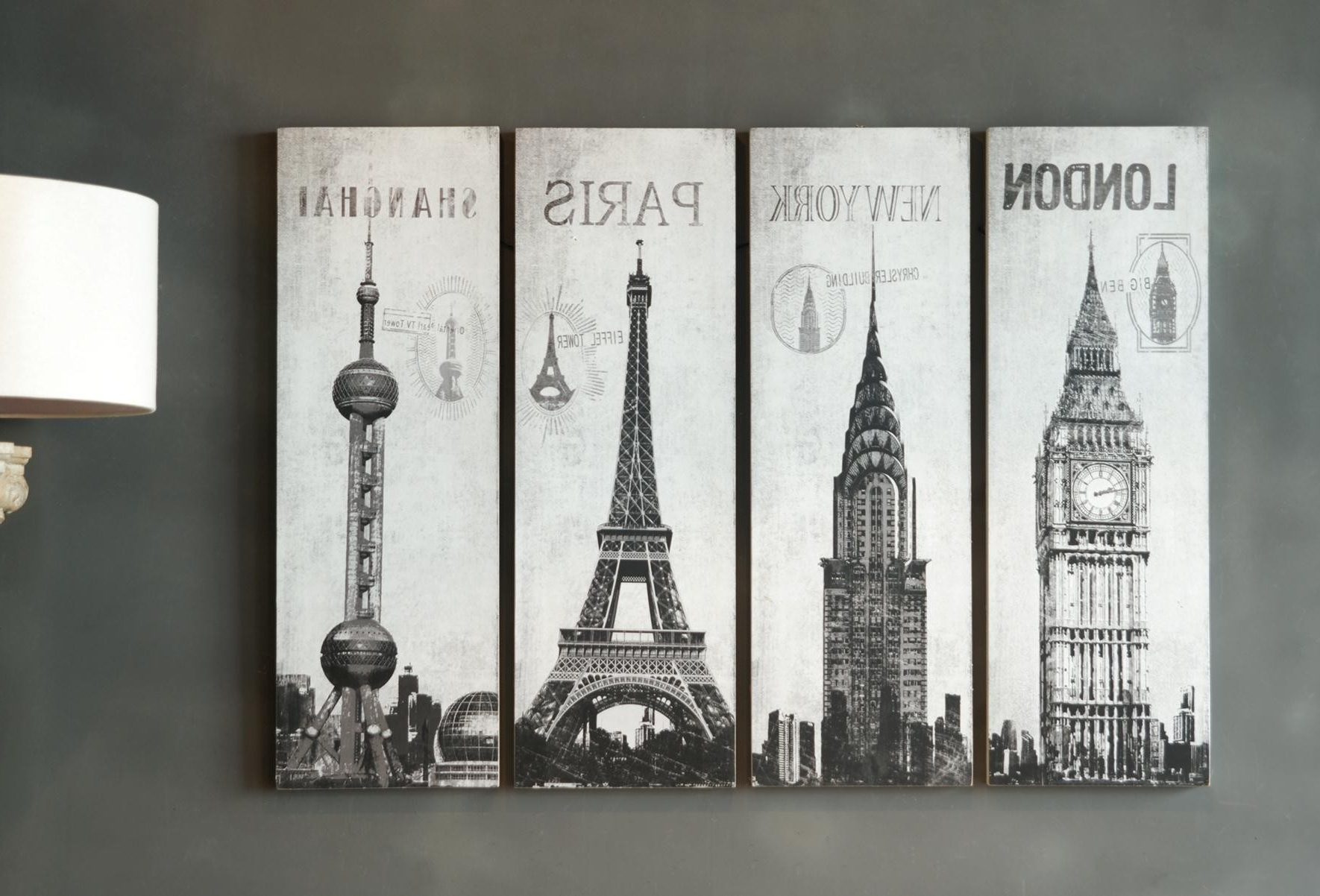 Latest Inspiring Set Of 4 Pieces Large Wall Art Hang On Grey Wall Painted With Grey Wall Art (View 10 of 15)