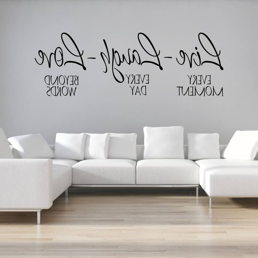 Latest Live Laugh Love Wall Art With Live Laugh Love Wall Stickermirrorin (View 3 of 15)