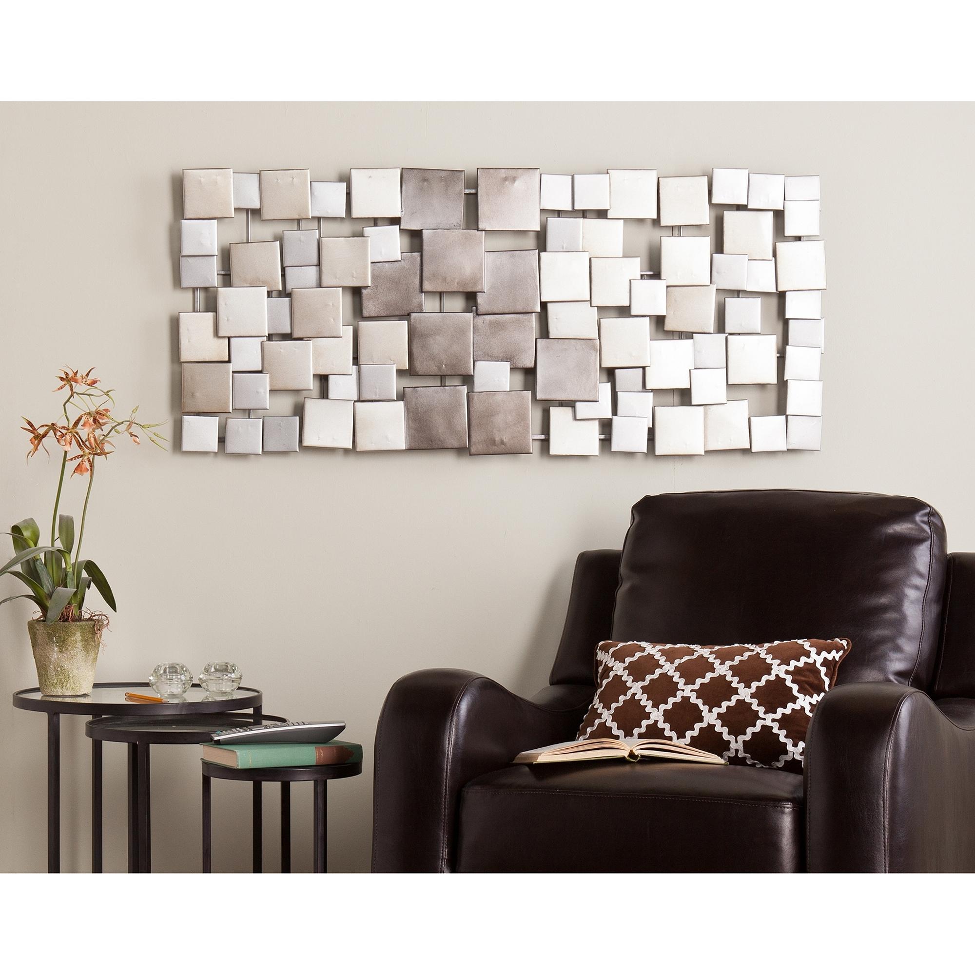 Latest Metallic Wall Art Inside Holly & Martin Wavson Wall Sculpture – Walmart (View 3 of 15)