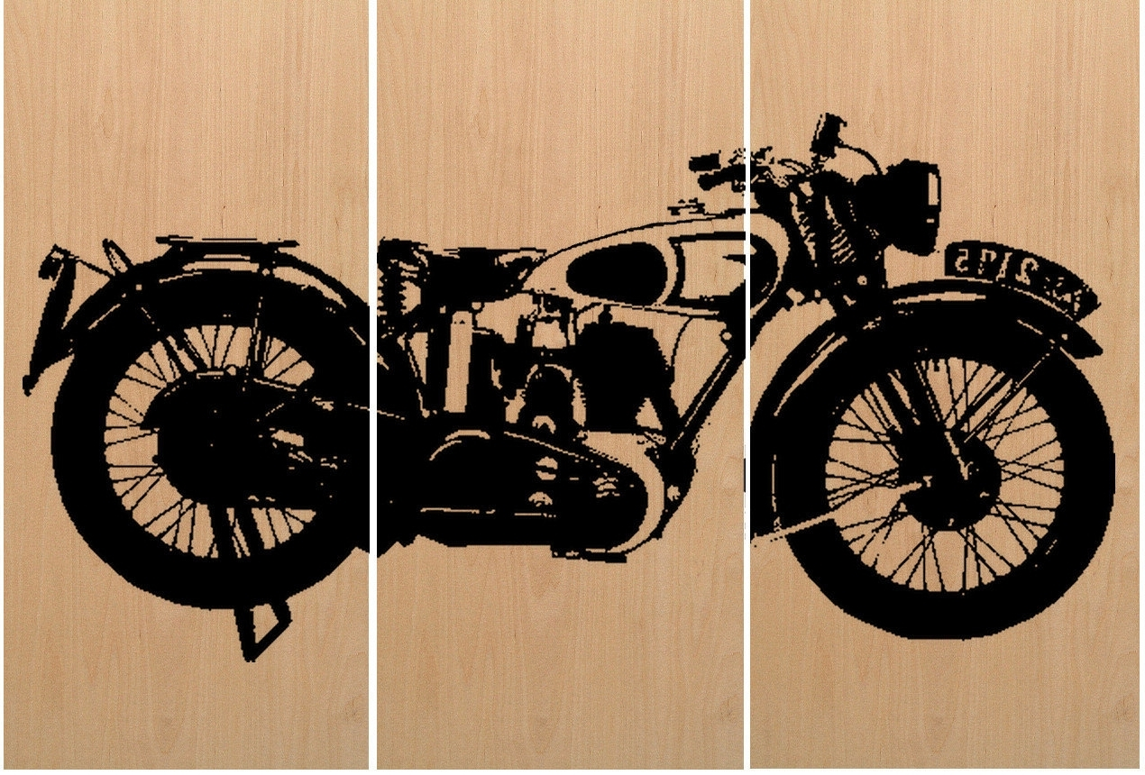 Latest Motorcycle Wall Art Regarding Motorcycle Wall Art – Culturehoop (View 8 of 15)