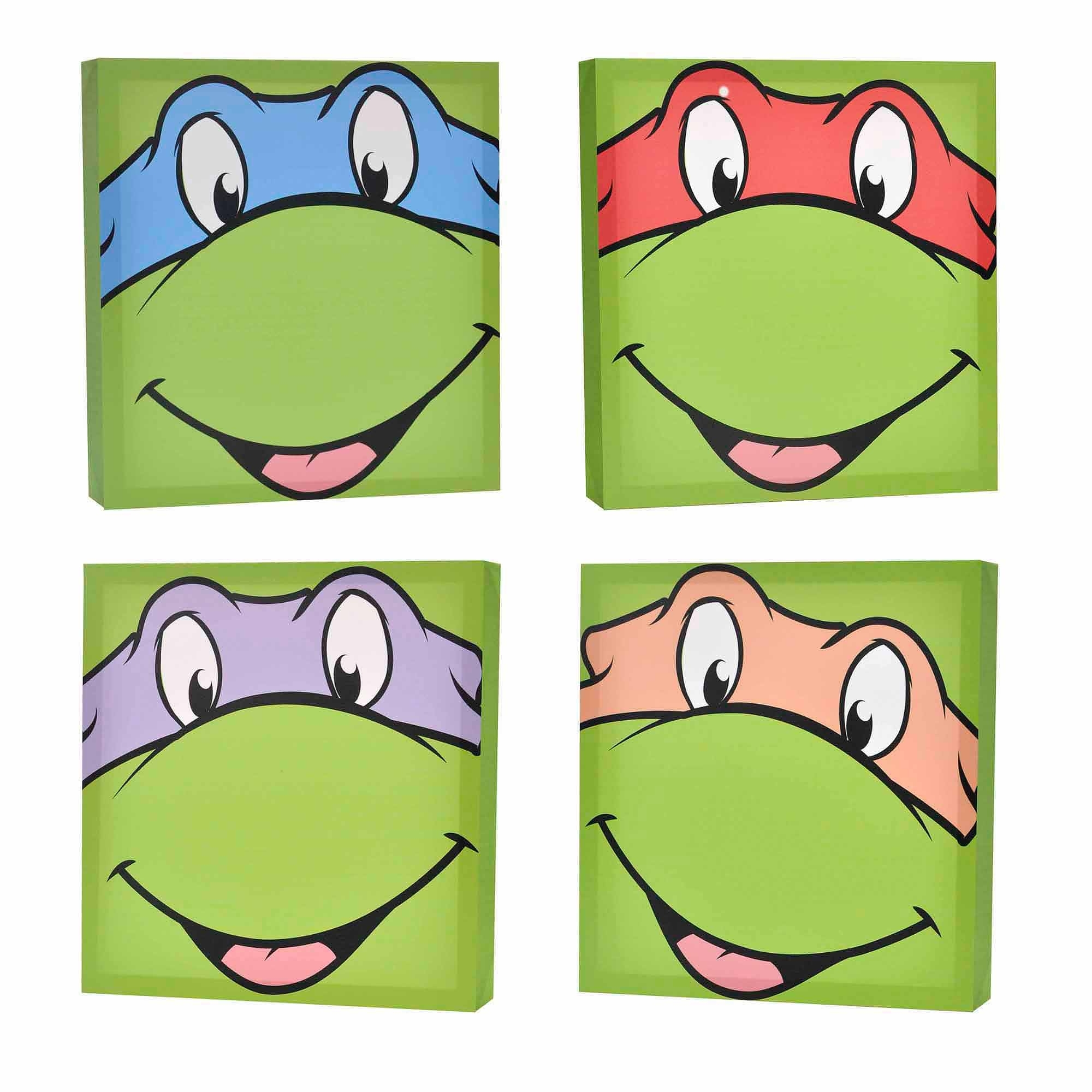 Latest Nickelodeon Teenage Mutant Ninja Turtles 4 Pack Canvas Wall Art Pertaining To Ninja Turtle Wall Art (View 15 of 15)