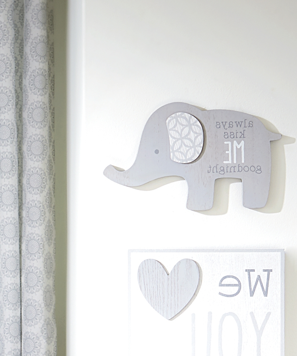 Latest Nursery Wall Art With Elephant Nursery Wall Art Shop Blue Elephant Nursery Set, Elephant (View 11 of 15)