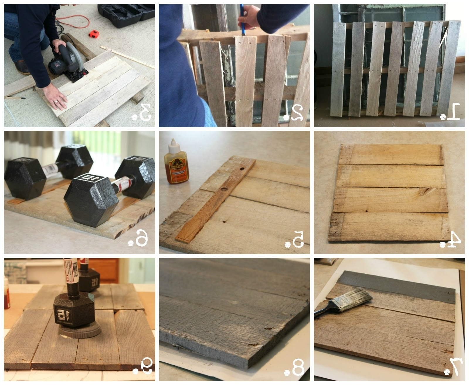 Latest Pallet & Plate Wall Art Househoff, Small Pallet Wall Art Inside Pallet Wall Art (View 7 of 15)