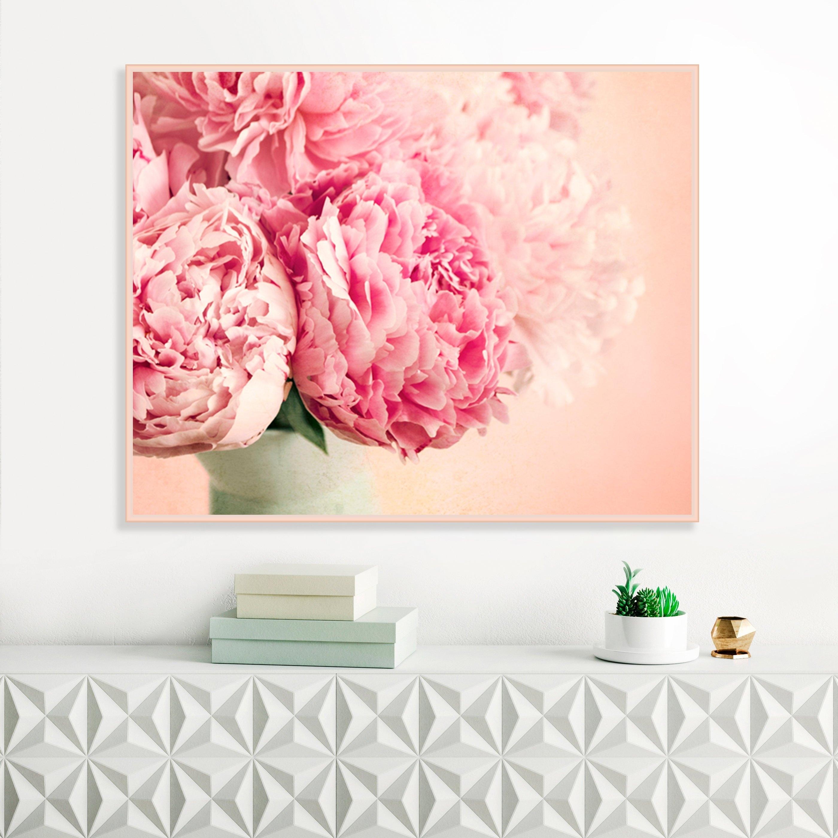 Latest Pink Wall Art Regarding Pink Peonies, Flower Prints, Blush Pink Wall Art, Peonies Still Life (View 9 of 15)