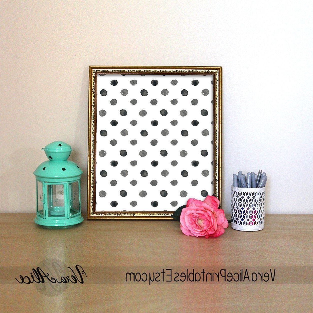 Latest Polka Dot Print Kate Spade Quote Black And White Polka Dot Wall Art Within Kate Spade Wall Art (View 15 of 15)