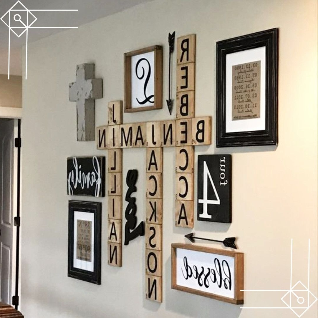 Latest Scrabble Wall Art For Scrabble Wall Art Diy Idea – Would Look Great In A Farmhouse Foyer (View 3 of 15)