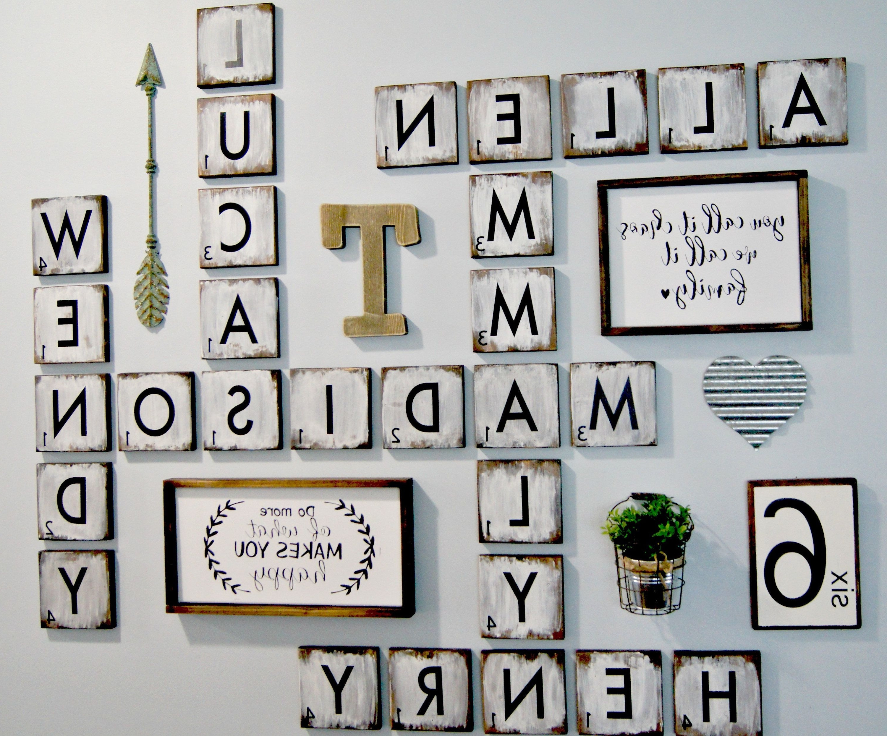 Latest Scrabble Wall Art With Scrabble Letters Wall Decor Diy Pinterest Design Of Family Scrabble (View 8 of 15)