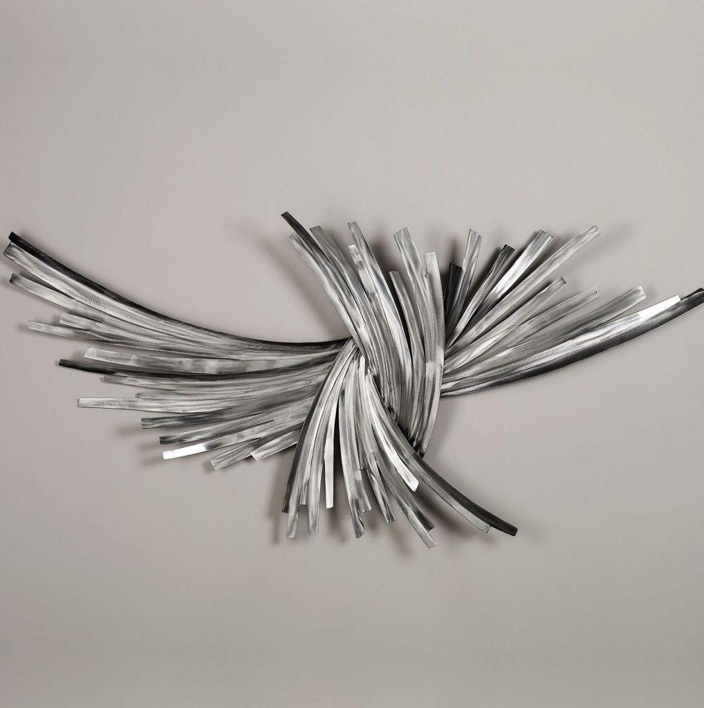 Latest Silver Metal Wall Art Pertaining To Wall Art Ideas Design : Abstract Pattern Silver Metal Wall Art (View 5 of 15)