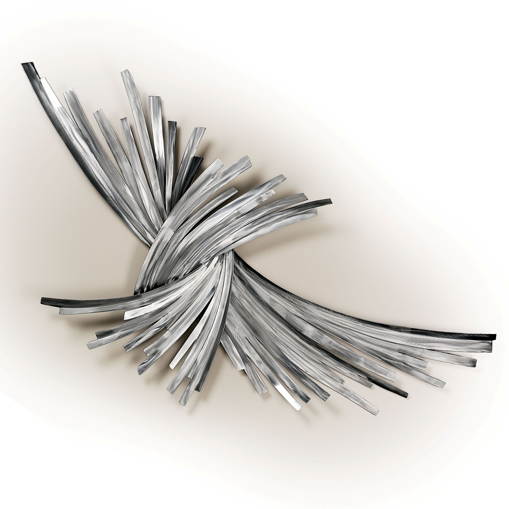 Latest Silver Metal Wall Art Within Wall Art Ideas Design : Infinity Sculpture Silver Metal Wall Art (View 3 of 15)