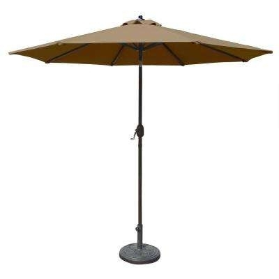 Latest Sunbrella Black Patio Umbrellas Regarding Sunbrella Fabric – 9 – Aluminum – Market Umbrellas – Patio Umbrellas (View 13 of 15)