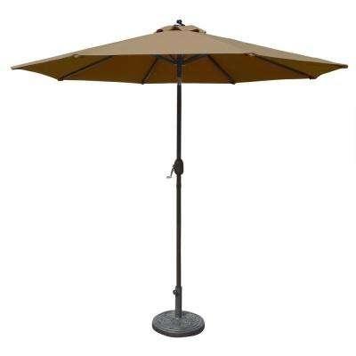 Latest Sunbrella Black Patio Umbrellas Regarding Sunbrella Fabric – 9 – Aluminum – Market Umbrellas – Patio Umbrellas (View 7 of 15)