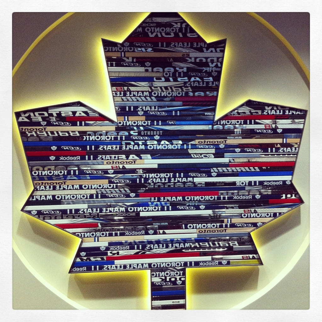 Latest Toronto Maple Leafs Show Off Their Cool Hockey Sticks Logo Art Within Hockey Wall Art (View 10 of 15)
