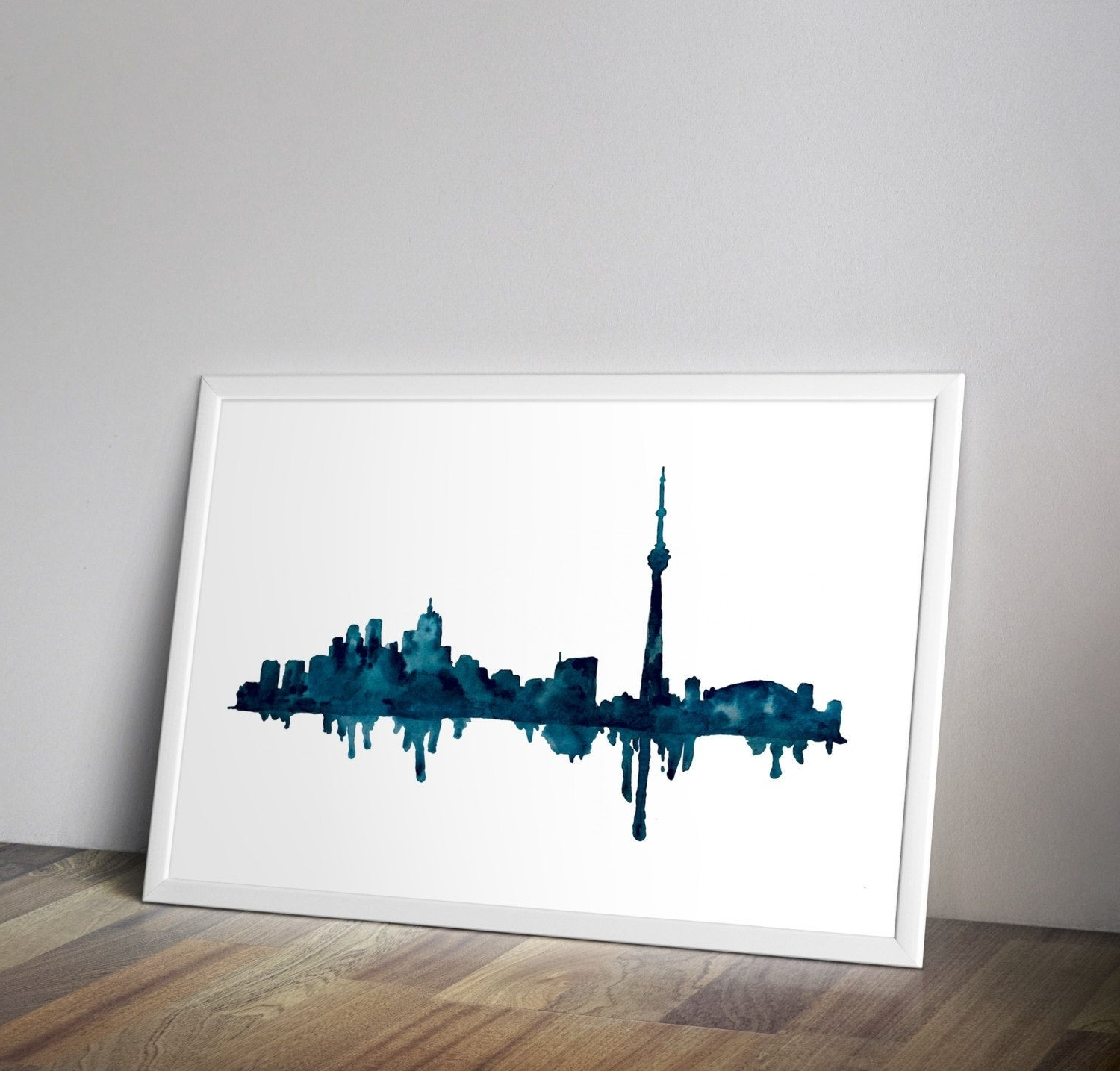 Latest Toronto Skyline Toronto Art Watercolor Cityscape Cityscape Wall With Regard To Kansas City Wall Art (View 9 of 15)