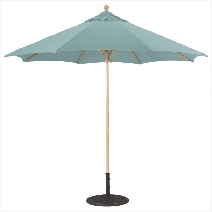 Latest White Patio Umbrellas » Warm Outdoor Patio Umbrella With Sunbrella Regarding Patio Umbrellas With Sunbrella Fabric (View 2 of 15)