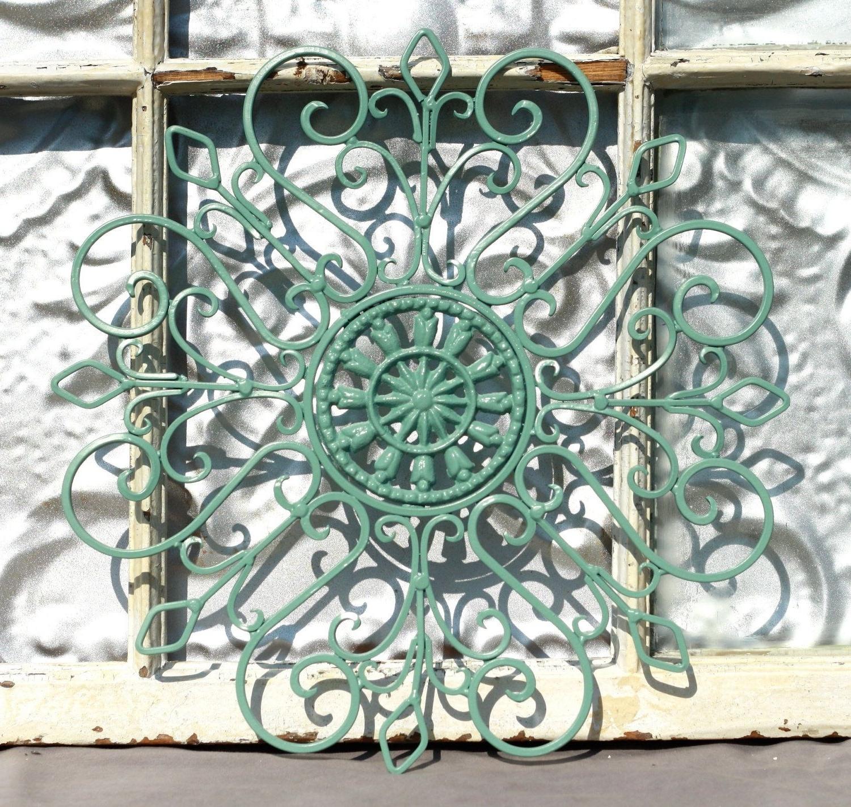 Latest Wrought Iron Wall Decor Metal Wall Hanging Indoor Outdoor Metal Regarding Large Outdoor Metal Wall Art (View 9 of 15)