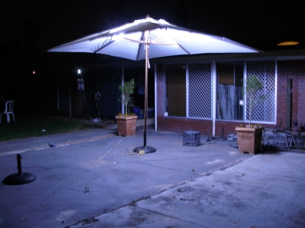 Led Outdoor Umbrella Lighting: 4 Steps (With Pictures) Pertaining To Well Known Patio Umbrellas With Led Lights (View 4 of 15)
