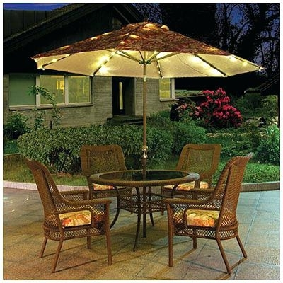 Led Patio Umbrellas With Most Recently Released Ideas Led Patio Umbrella For Solar Powered Lighted Patio Umbrella (View 11 of 15)