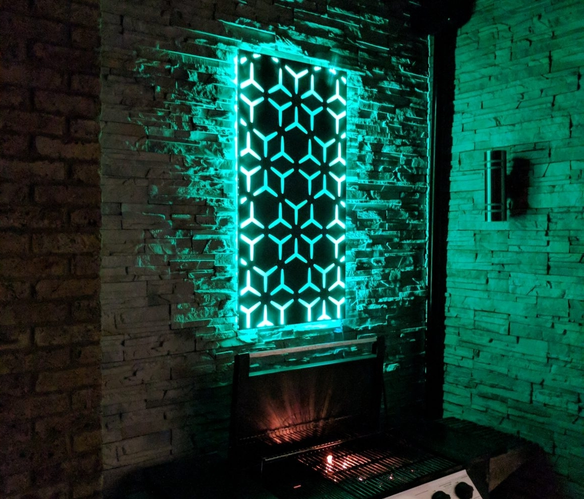Led Wall Art For 2018 Led Wall Art ; So Much More Than Flat Metal Panels – The Ideal Garden (View 3 of 15)
