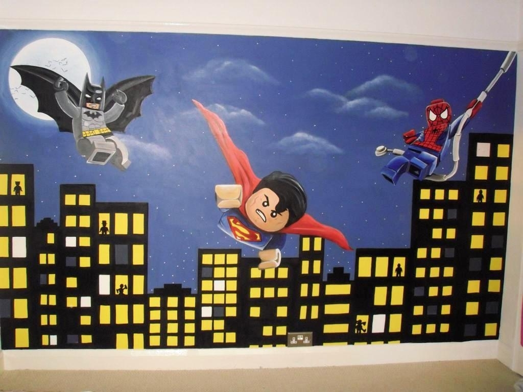Lego Superhero Wall Decals – New Furniture In Newest Superhero Wall Art (View 5 of 15)