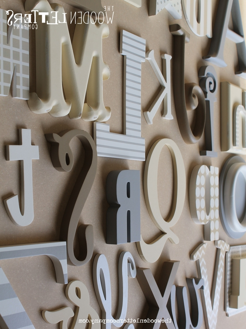 Letter Wall Art Within Most Current Wood Alphabet Letters Wall Art – Wooden Furnitures (View 9 of 15)