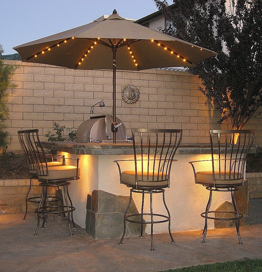 Lighted Patio Umbrellas Intended For 2017 Strobe Umbrella Light (View 2 of 15)