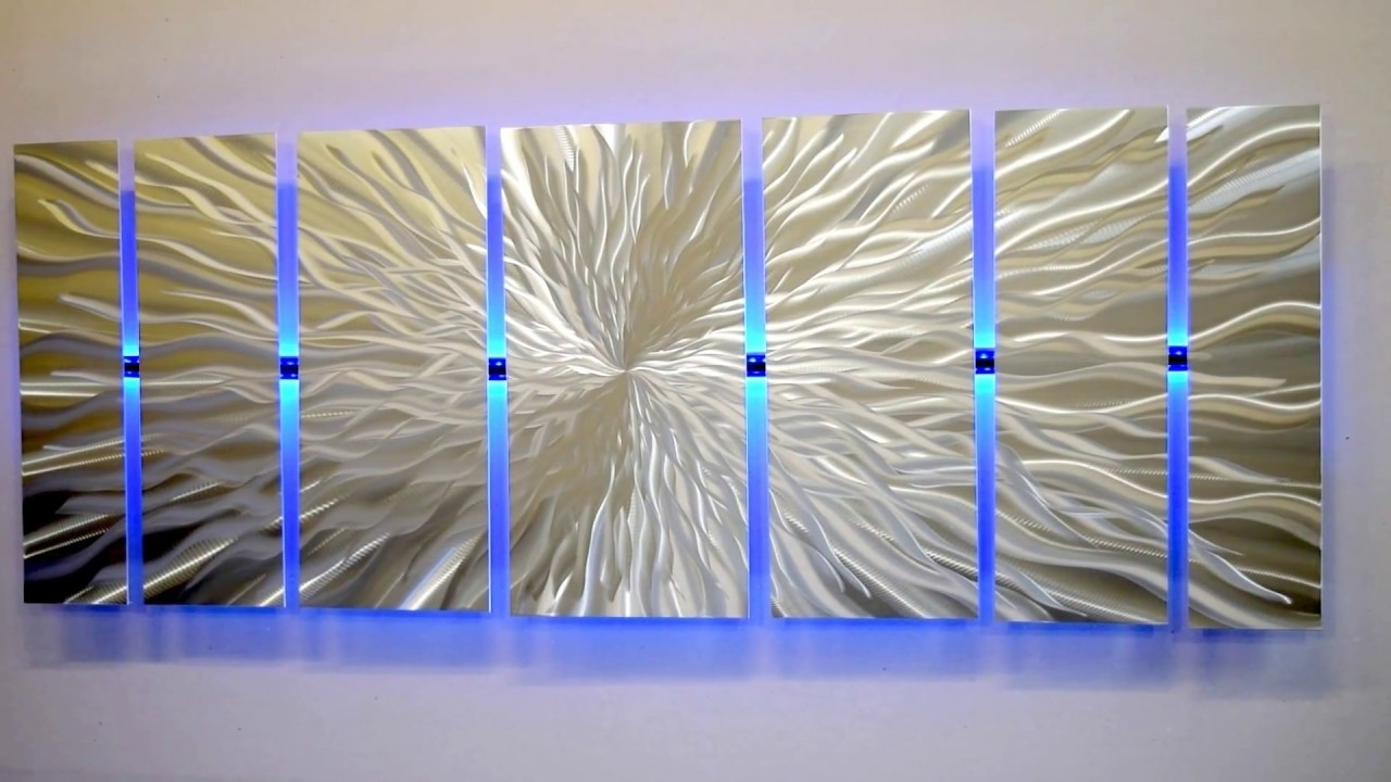 "Lighted Wall Artmetal Artist Brian Jones ""cosmic Energy"" Led Inside Latest Lighted Wall Art (View 11 of 15)"