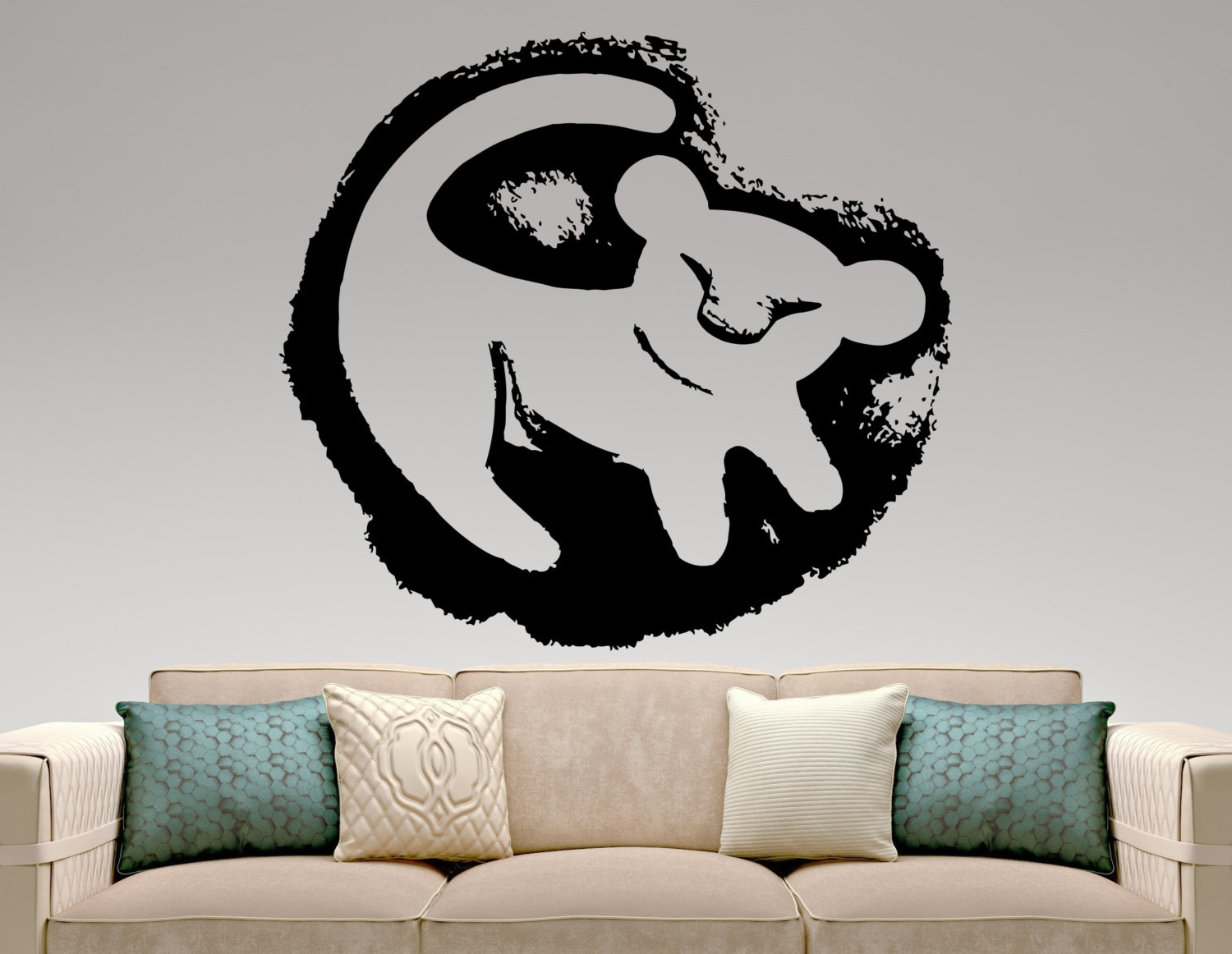 Lion King Wall Decals – Talentneeds – Within 2018 Lion King Wall Art (View 9 of 15)