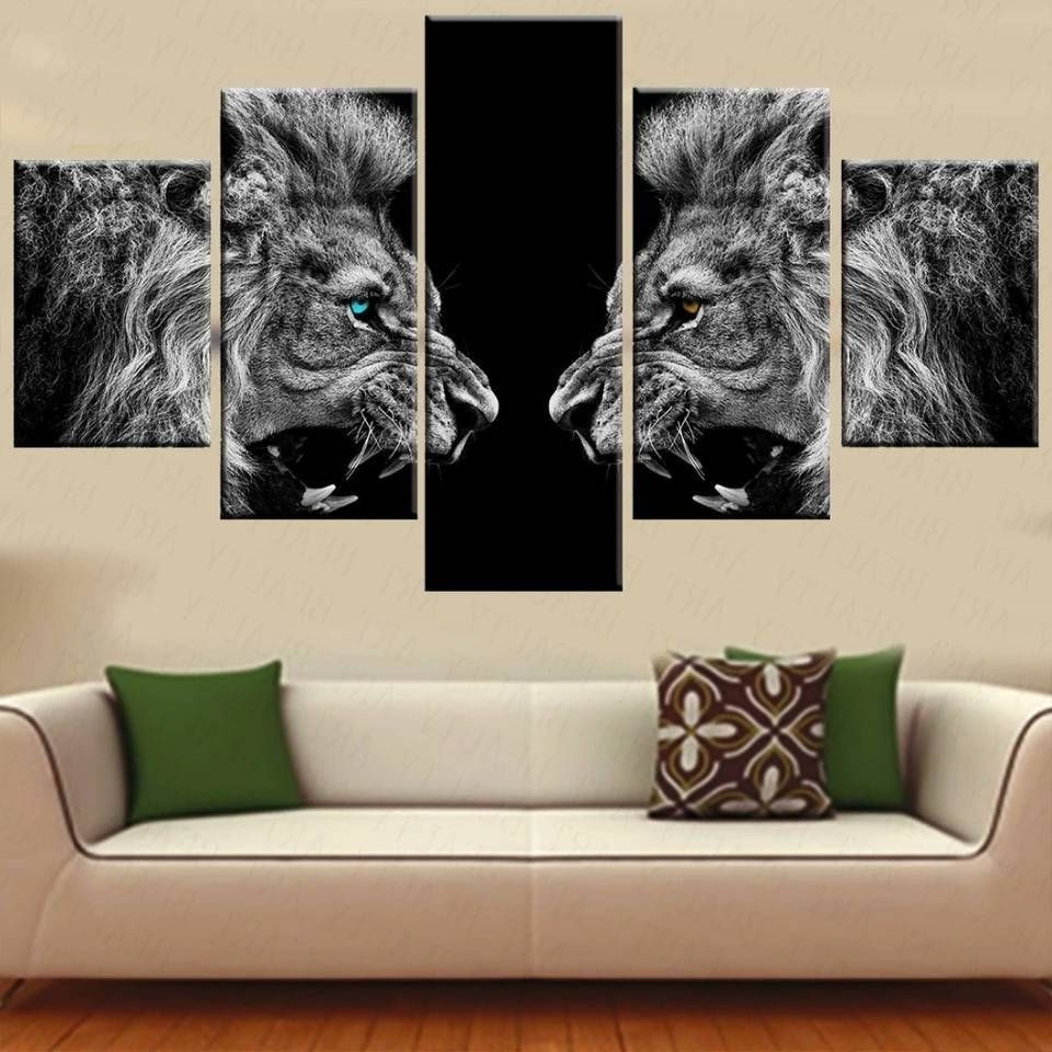 Lion Wall Art, Framed Wall Art And Wall Decor (View 10 of 15)