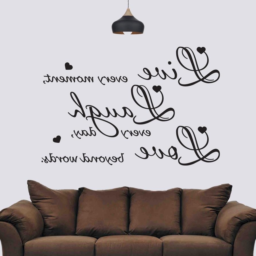 Live Laugh Love, Wall Sticker, Decals, Sign, Wall Art Inside Newest Love Wall Art (View 11 of 15)