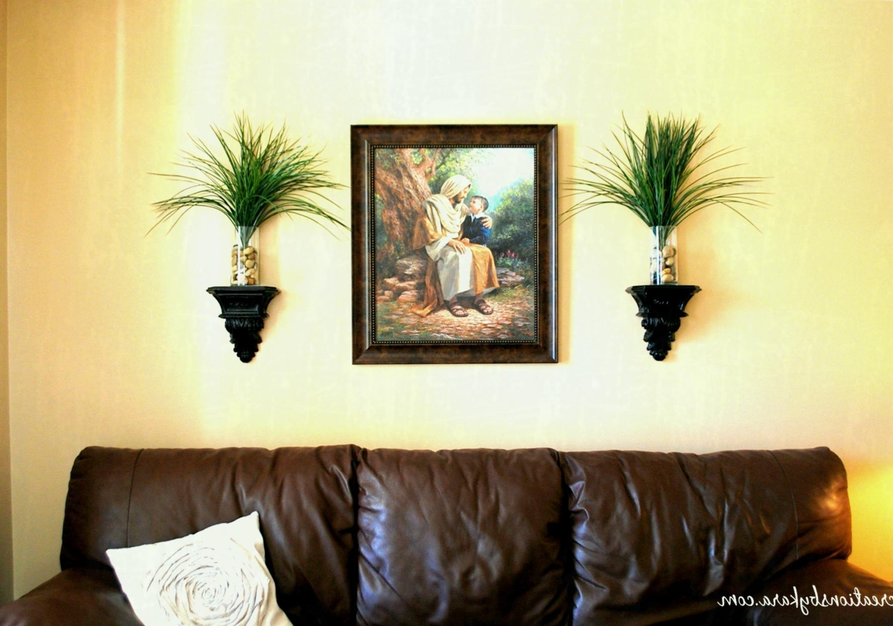 Living Room : Creative Painting Ideas For Walls With White Wall With Regard To Trendy Art For Walls (View 8 of 15)