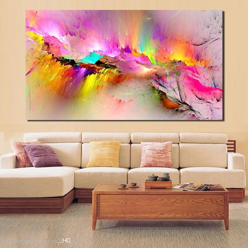 Living Room Painting Wall Art Pertaining To Most Current Discount Oil Painting Wall Pictures For Living Room Home Decor (View 13 of 15)
