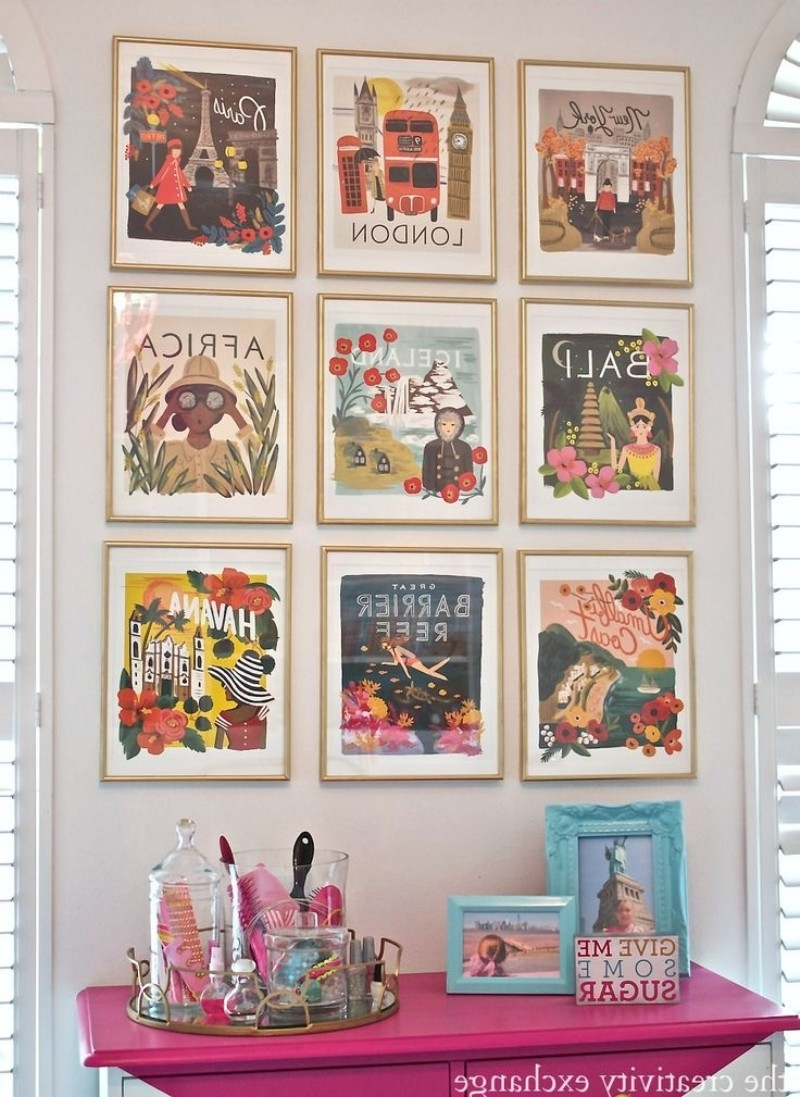Living Room Wall Decor: 10 Vintage Lifestyle Posters – Inspirations Throughout Favorite Vintage Wall Art (View 6 of 15)