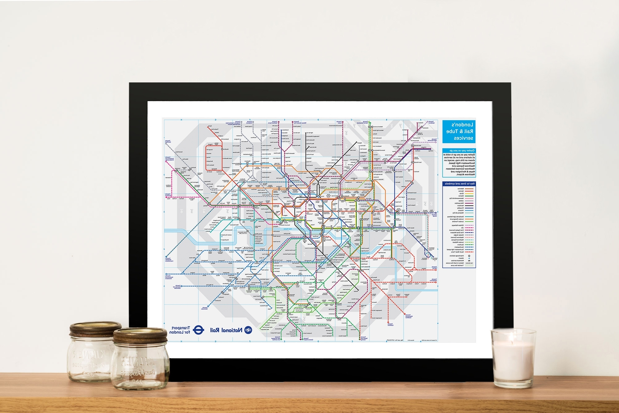 London Underground Tube Map Canvas Wall Art Pictures Australia With Most Recent Tube Map Wall Art (View 3 of 15)