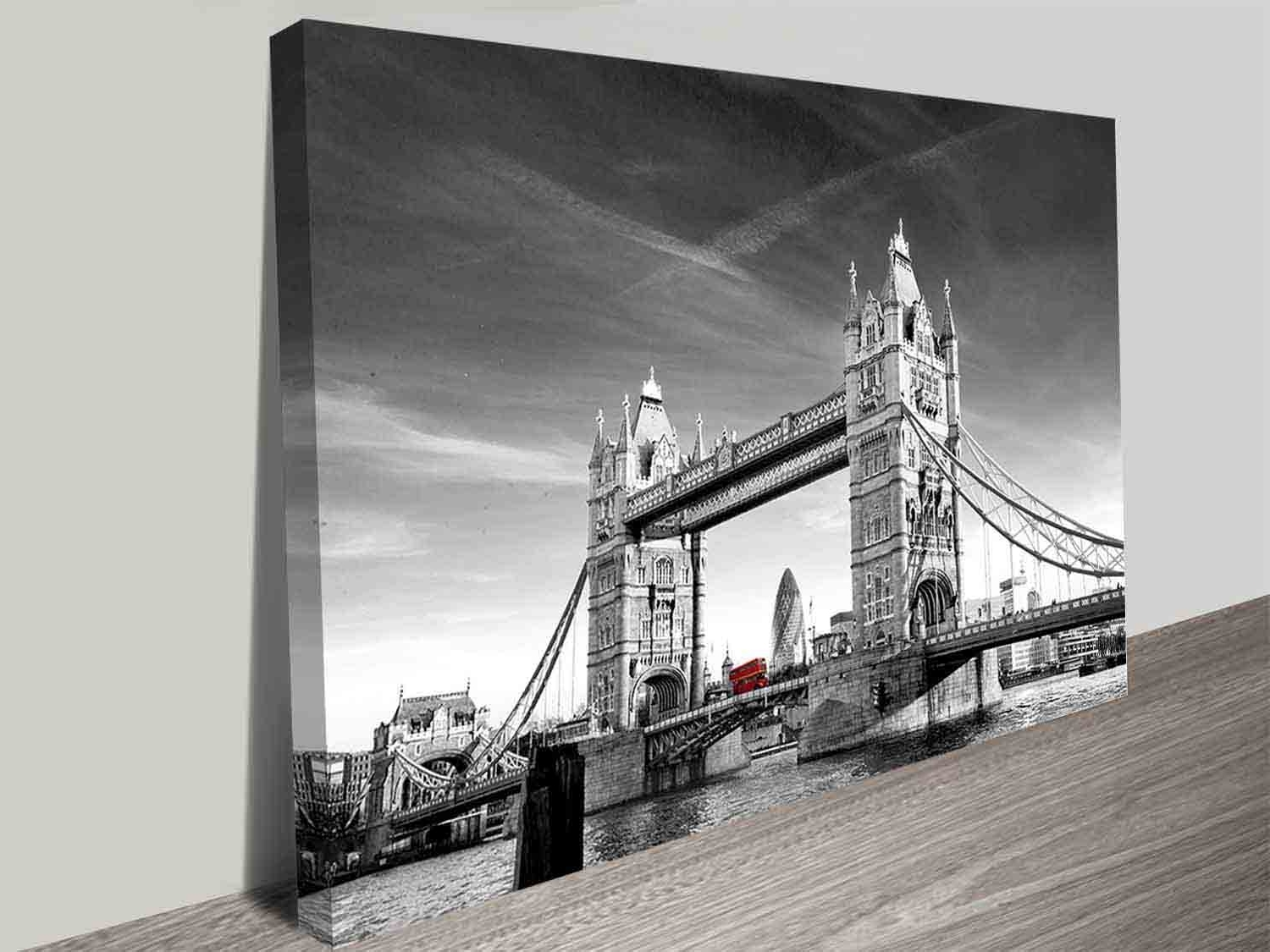 London Wall Art Within Latest Tower Bridge Photographic Colour Splash Iconic London Canvas Wall Art (View 10 of 15)