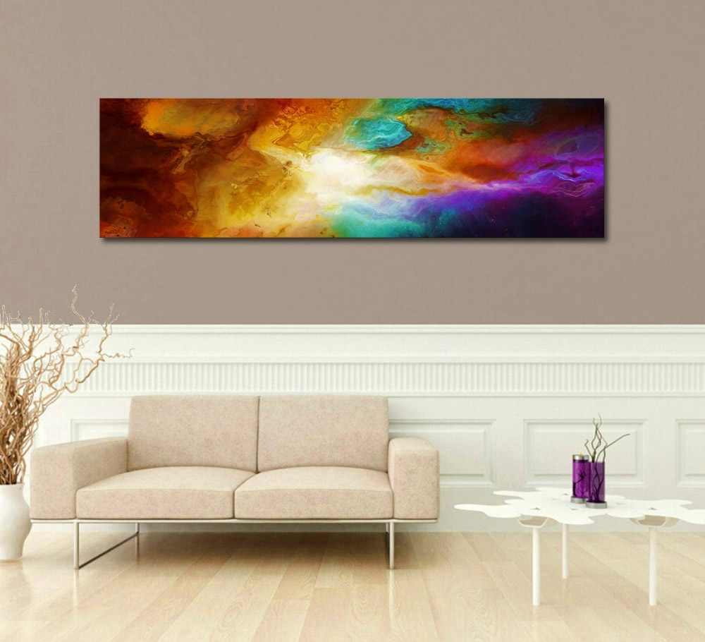 """Long Canvas Wall Art Intended For Preferred Contemporary Abstract Art For Sale – """"becoming"""" – (View 4 of 15)"""