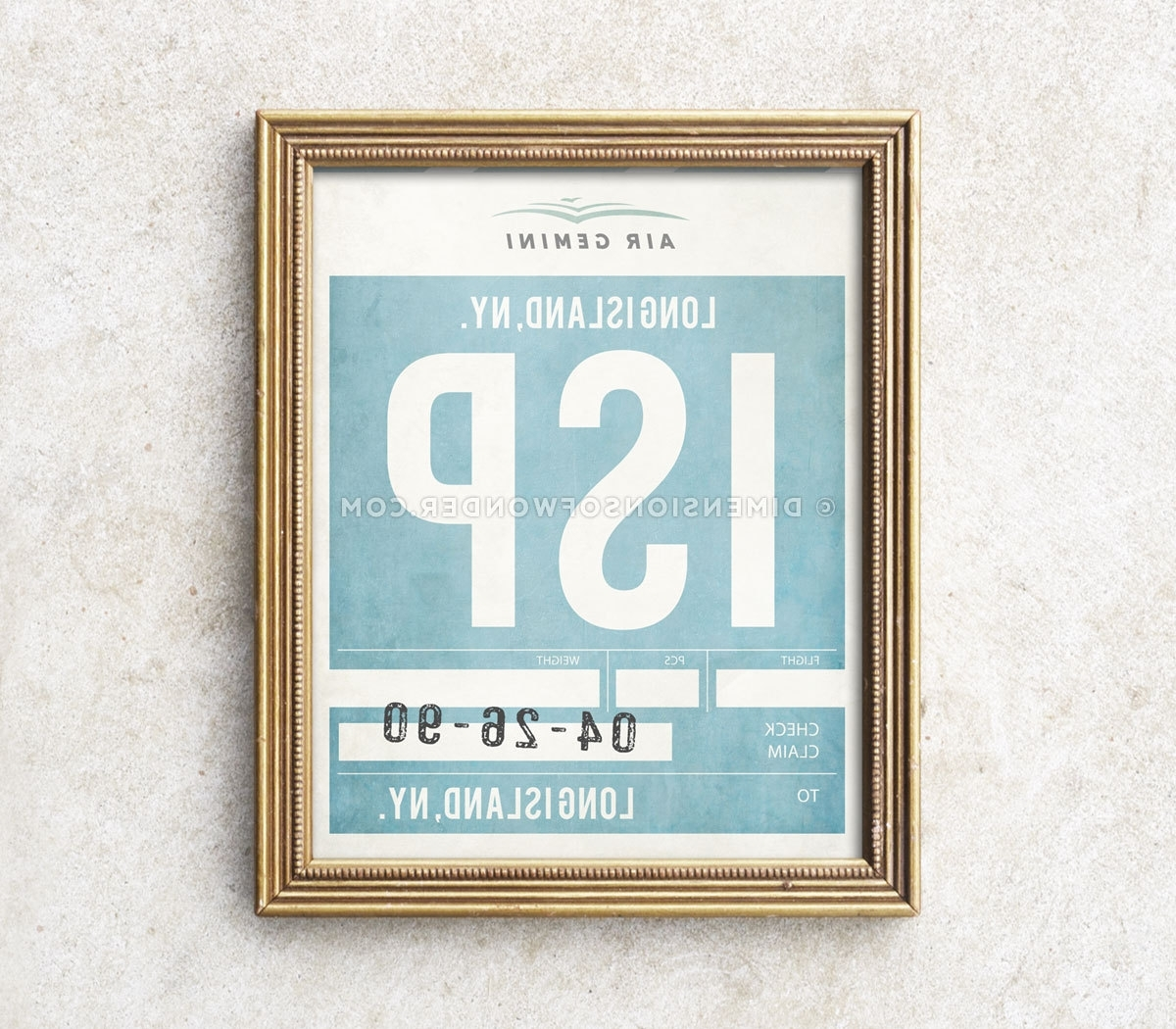 Long Island Wall Art In Well Known 20 Long Island Wall Art, Long Island Landmark Typography Canvas Wall (View 8 of 15)